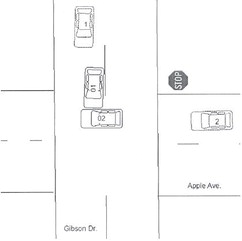 Two-vehicle accidents