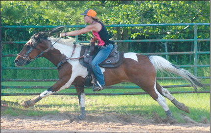 Obstacles to challenge horses in July 12 Pleasure Riders event