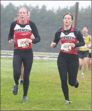 L-G and Spencer runners see each other at two meets