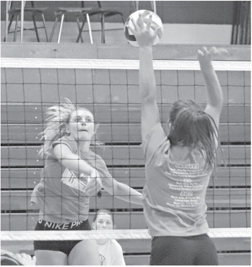 VOLLEYBALL TEAMS TRY TO MAKE UP FOR LOST TIME