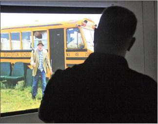 Deputies practice de-escalation on simulator