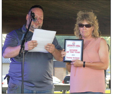 Tracey Ackman honored as  Spencer citizen of the year