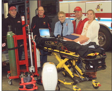Anonymous $60,000 gift helps  upgrade Loyal ambulance