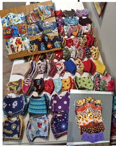 Hanson uses her handcrafted masks to help others