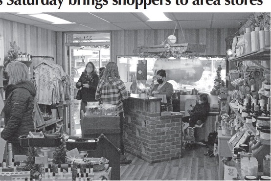 Small business Saturday brings shoppers to area stores