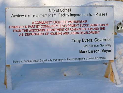 Cornell City Council; Delays not expected to hamper wastewater plant project
