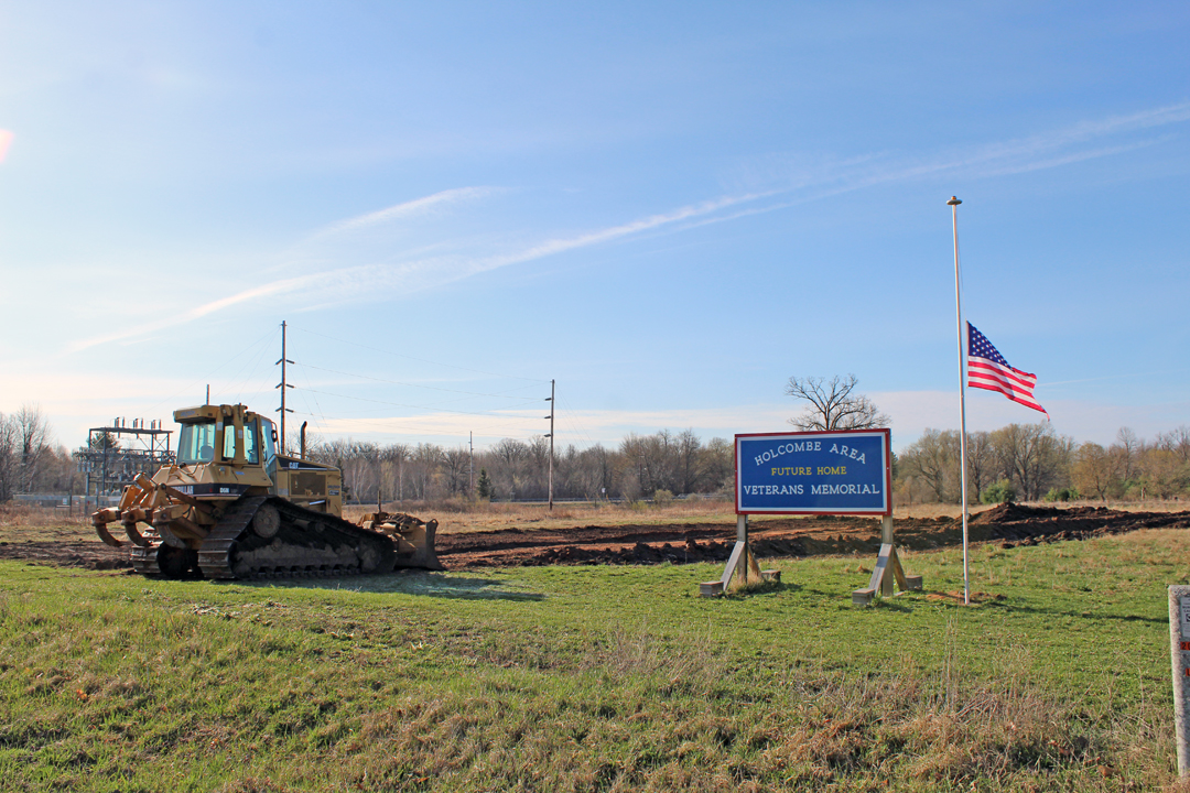 Construction preparation starts at veterans memorial
