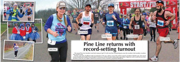 The annual Pine Line Marathon ….