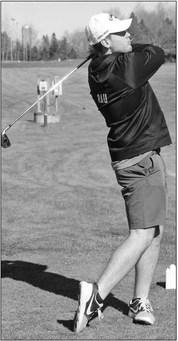 Golfers enjoys home course