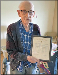 Moldrem gives 70 years of membership to Legion