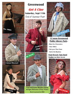 Solve a mystery in Greenwood